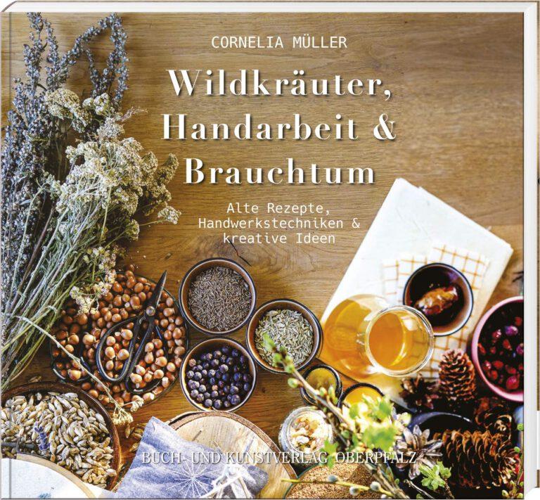 Buchcover mit Kräutern, Likören, Samen